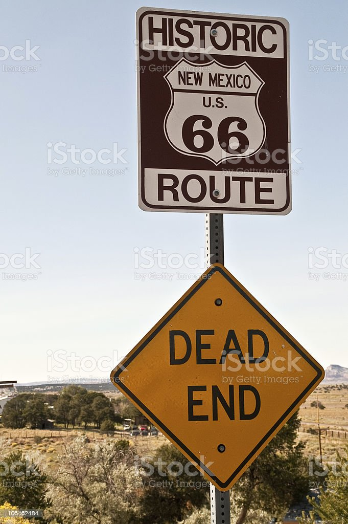 New Mexico Route 66 Sign royalty-free stock photo