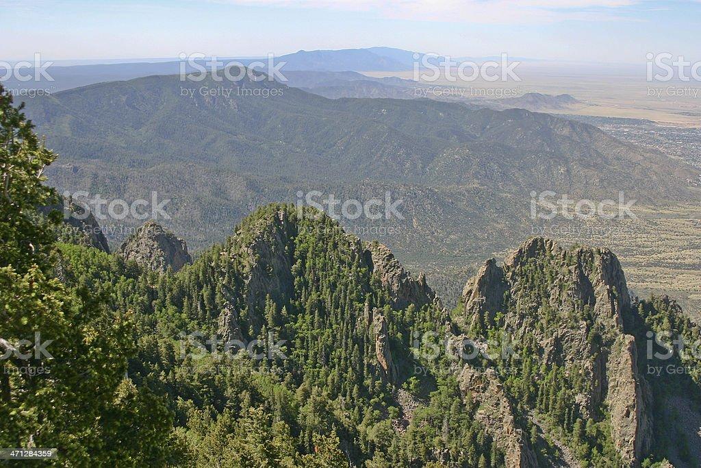New Mexico Sandia Mountains View stock photo