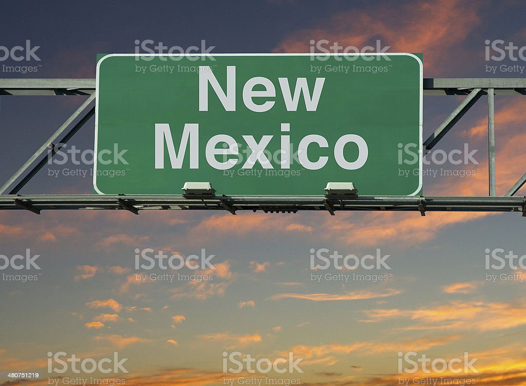 New Mexico Sign stock photo