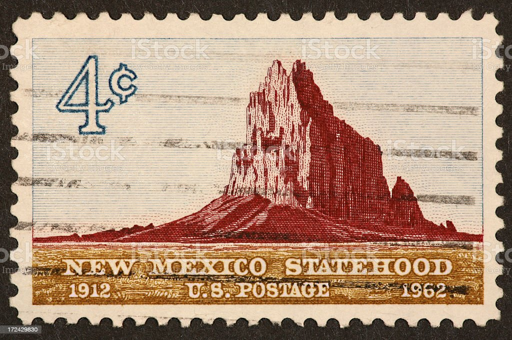 New Mexico stamp 1962 royalty-free stock photo