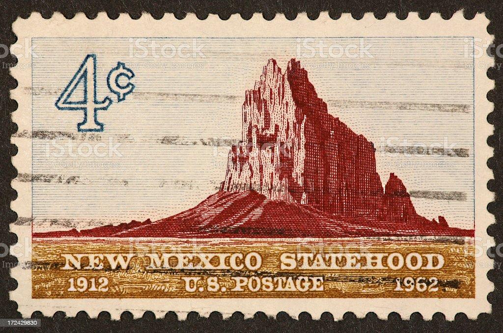 New Mexico stamp 1962 stock photo