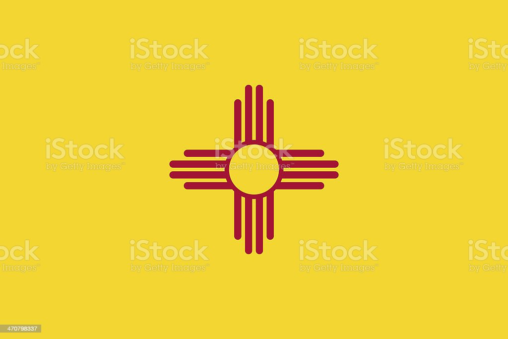 New Mexico State Flag stock photo