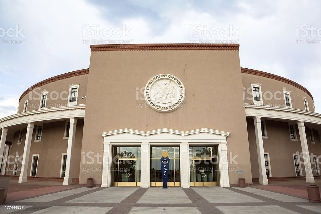 New Mexico State House and Capitol Building stock photo