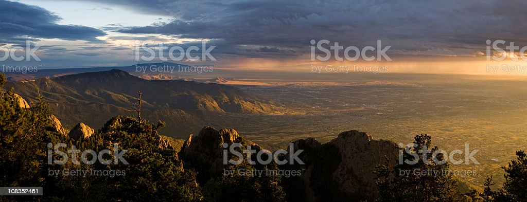 New Mexico Sunset stock photo