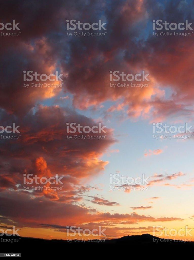 New Mexico Sunset royalty-free stock photo