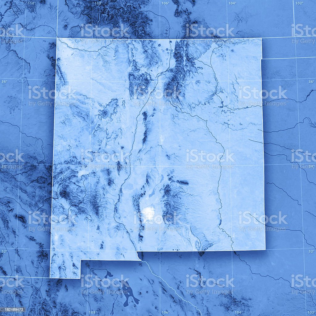 New Mexico Topographic Map royalty-free stock photo