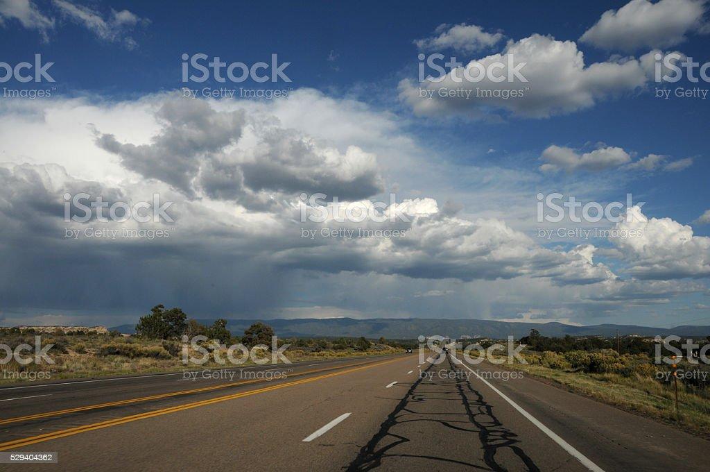 New Mexico US Highway 550 stock photo