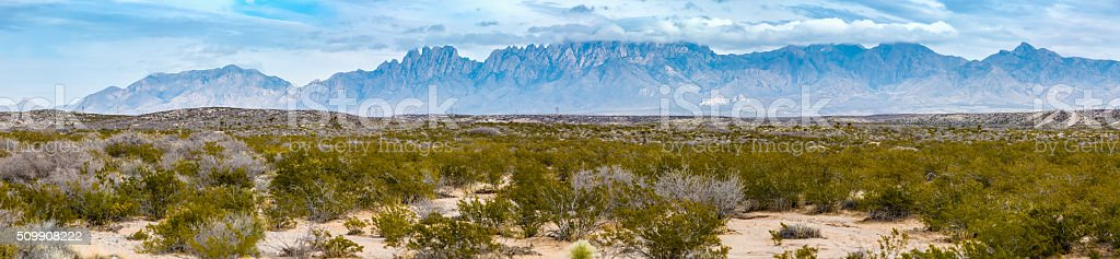 New Mexico's Chihuahuan Desert and Organ Mountains stock photo