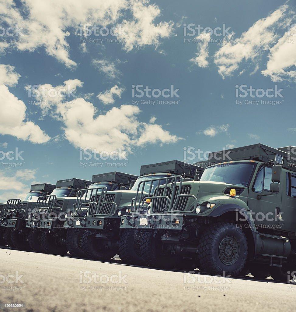 New Military Vehicles stock photo
