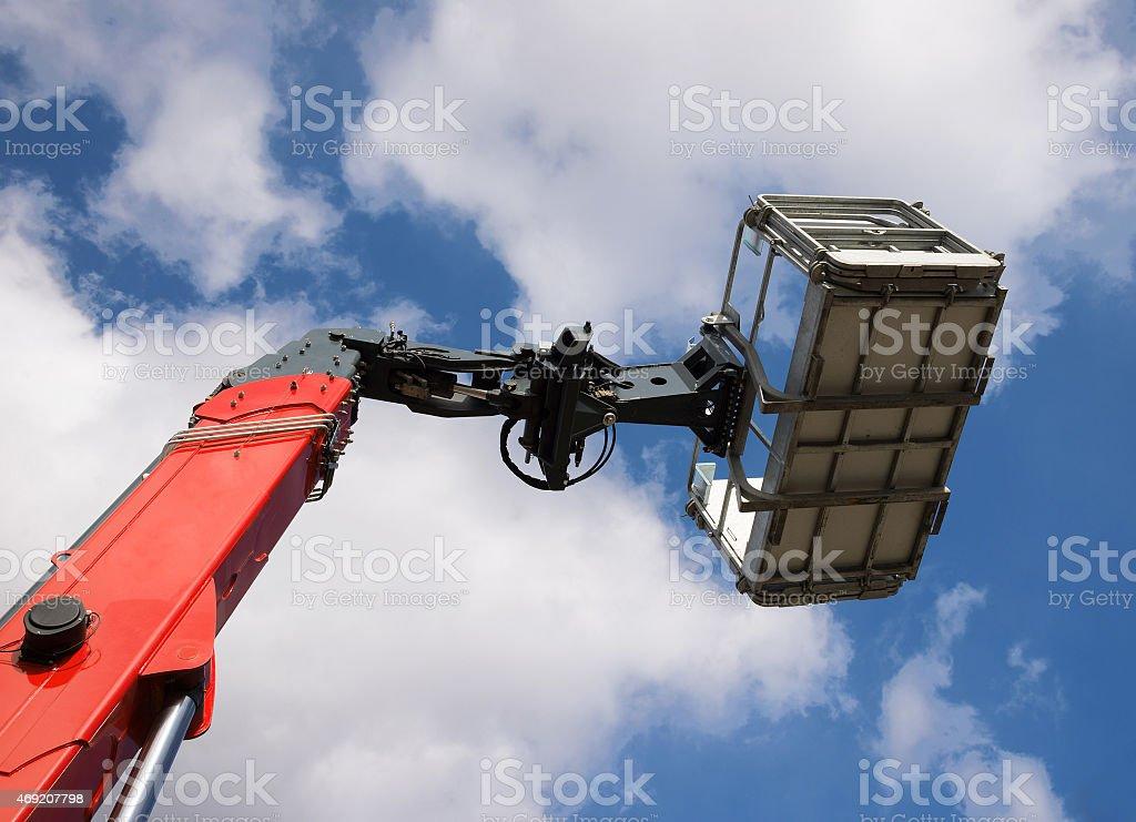 New mobile crane basket stock photo