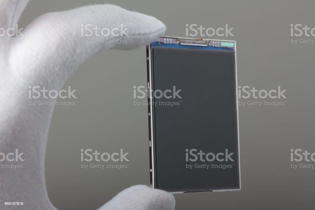 New mobile display stock photo