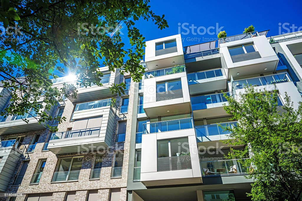 New modern apartment houses stock photo