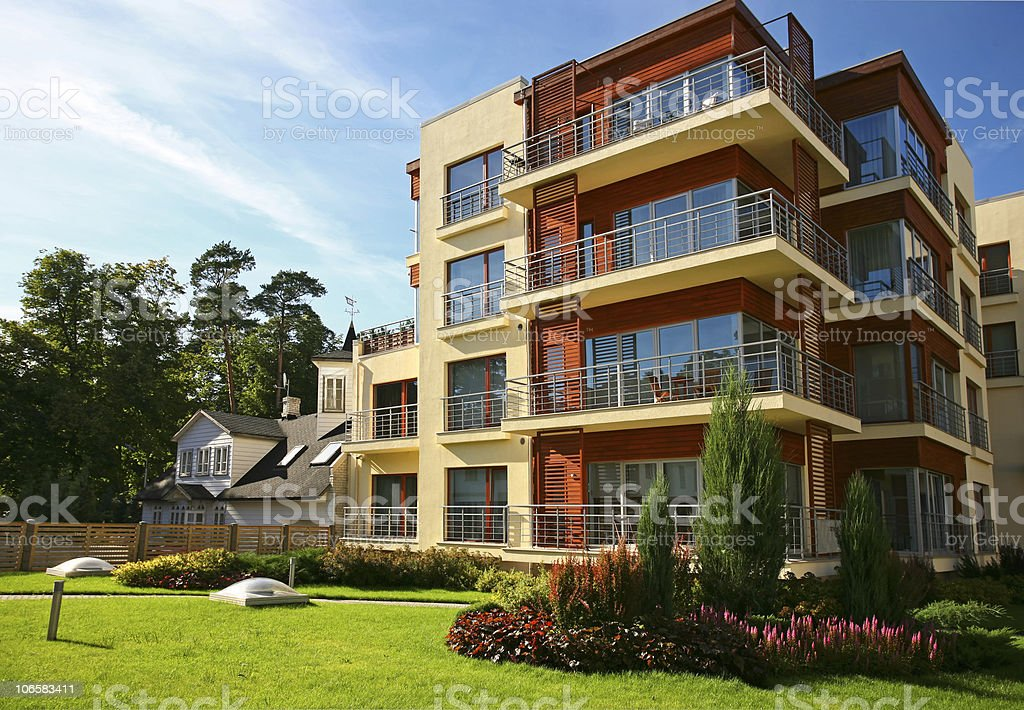 New modern apartments royalty-free stock photo