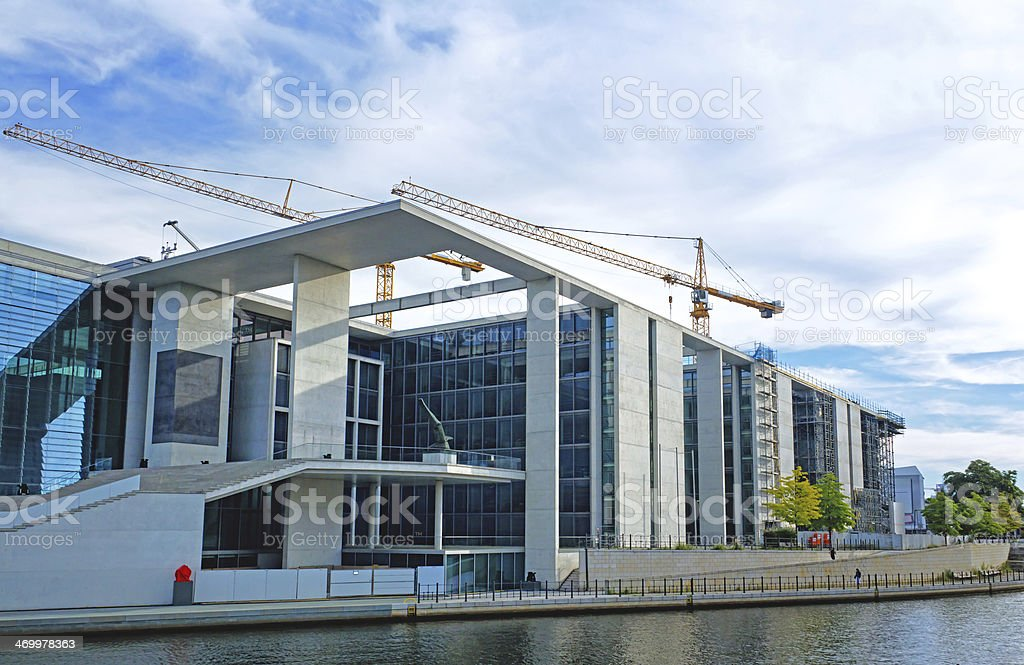 New modern buildings under construction royalty-free stock photo
