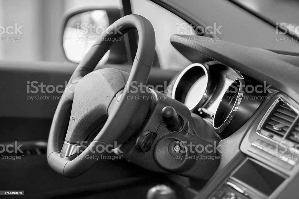 new modern car interiour royalty-free stock photo