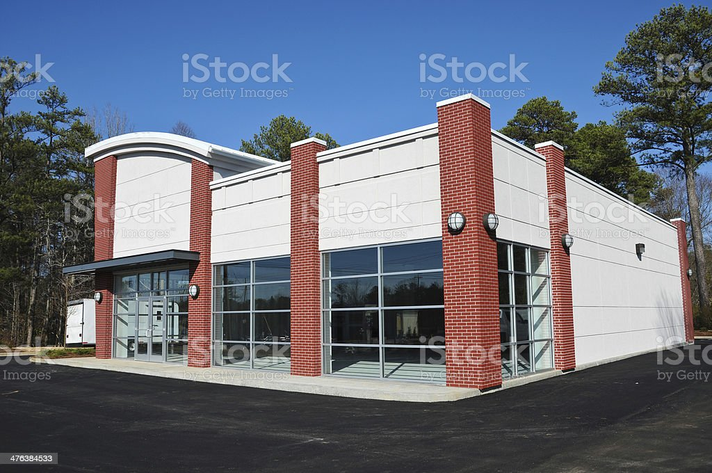 New Modern Commercial Building stock photo