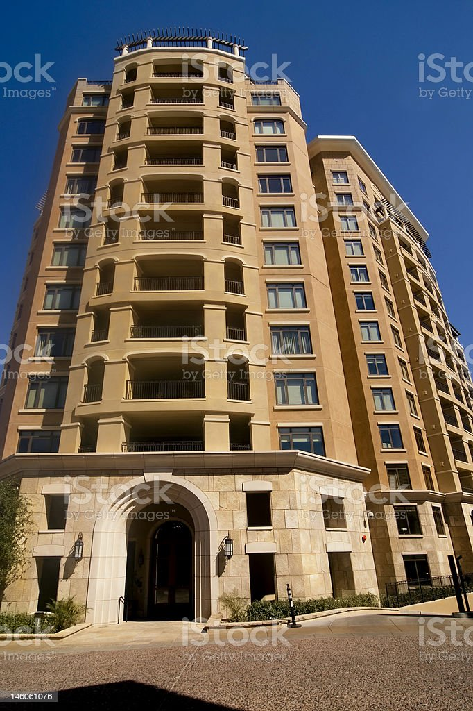 New Modern Condo apartment Building royalty-free stock photo