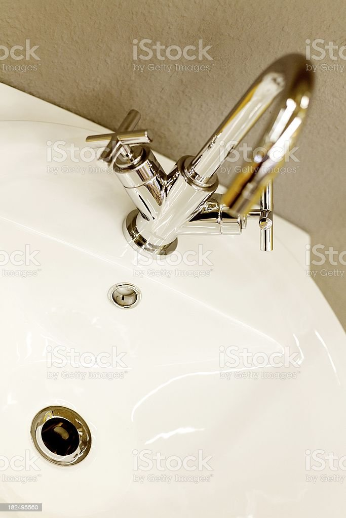 new modern faucet royalty-free stock photo