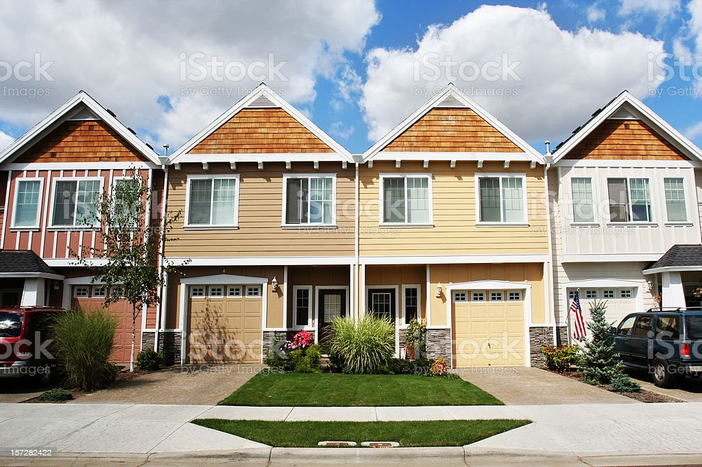 New Modern Homes royalty-free stock photo