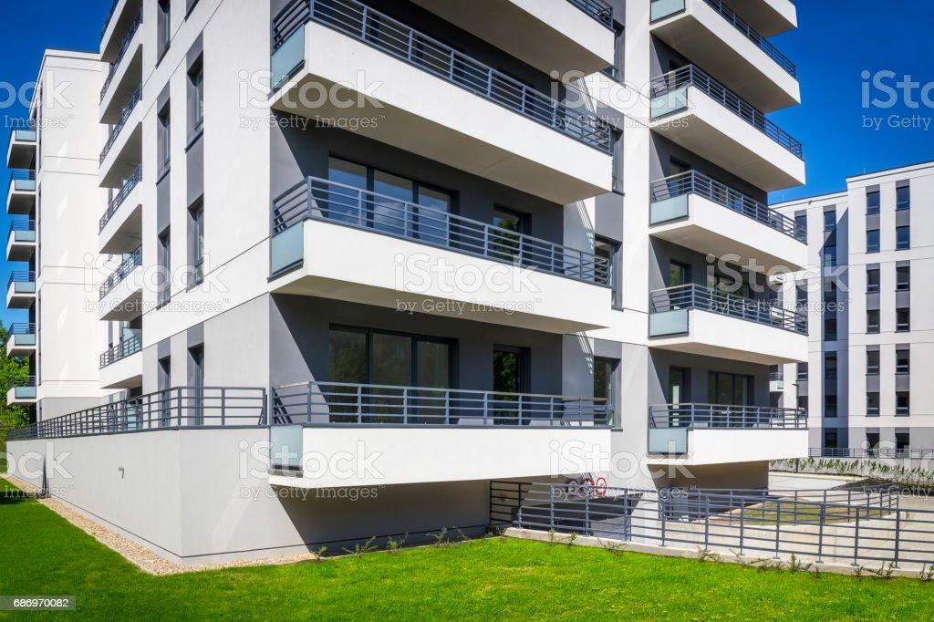 New modern housing estate stock photo