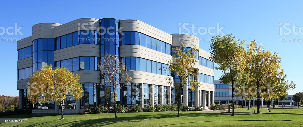 New Modern Industrial or Commercial Building stock photo