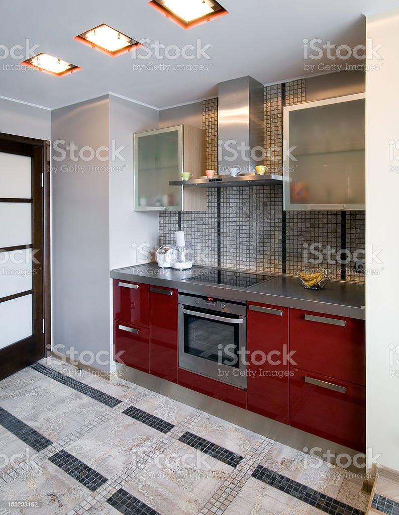 New modern kitchen royalty-free stock photo