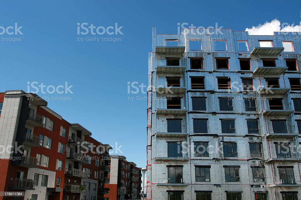 New Modern Retirement Apartment Under Construction royalty-free stock photo