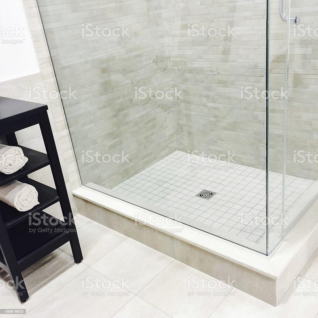 New modern shower stock photo