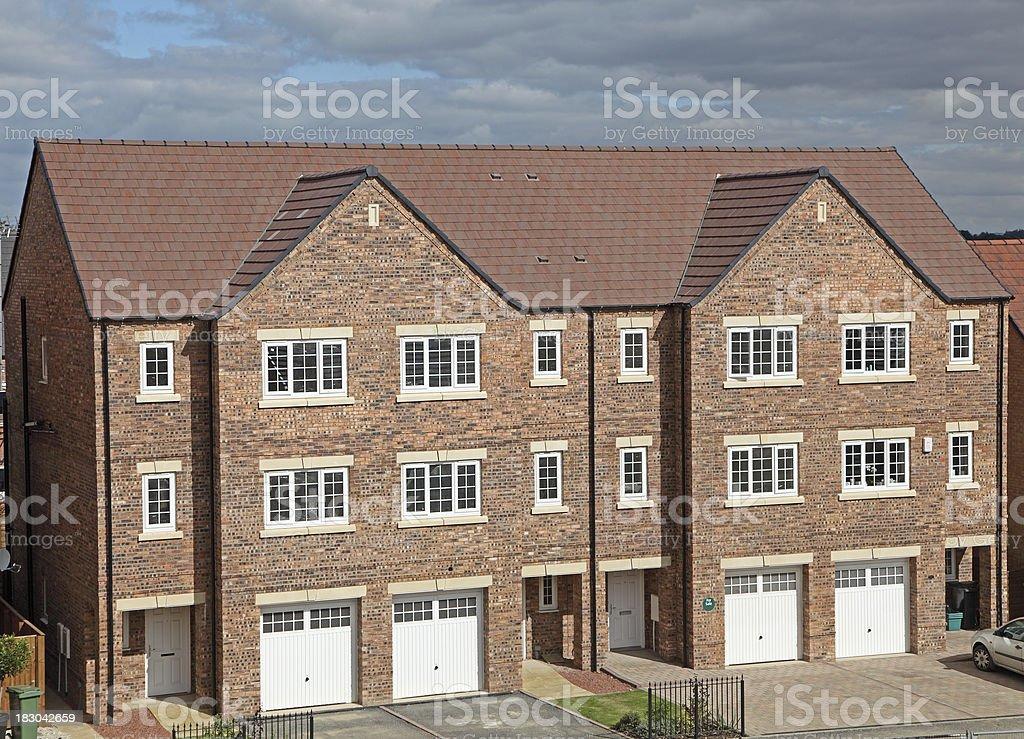 new modern uk apartment block stock photo
