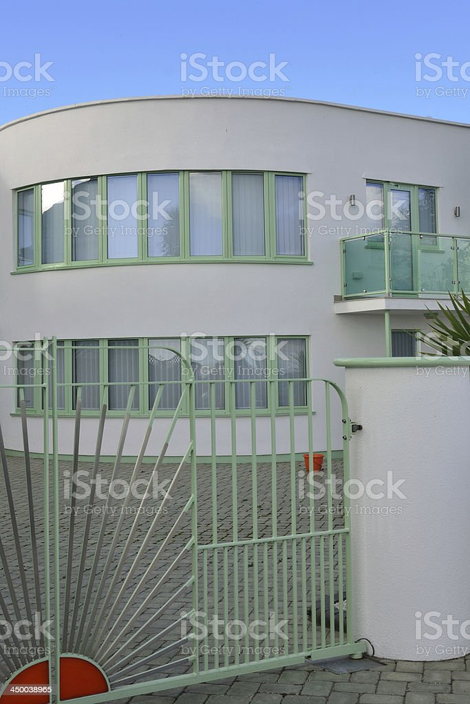New modernist luxury home in portrait royalty-free stock photo