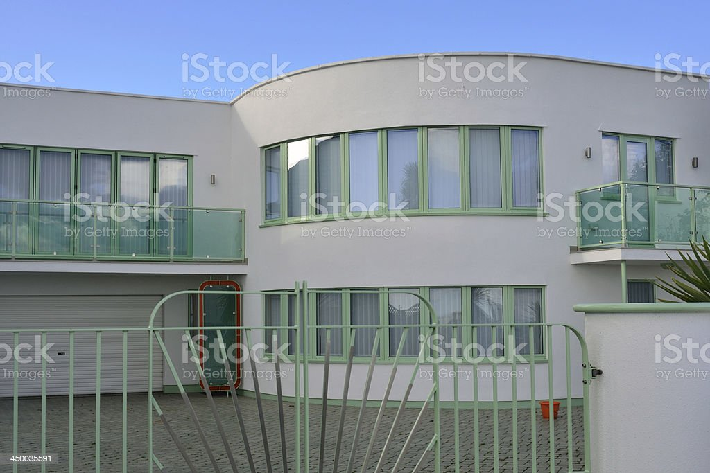 New modernist villa royalty-free stock photo