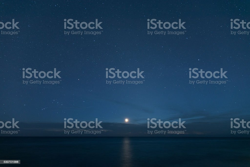 new moon and ster royalty-free stock photo