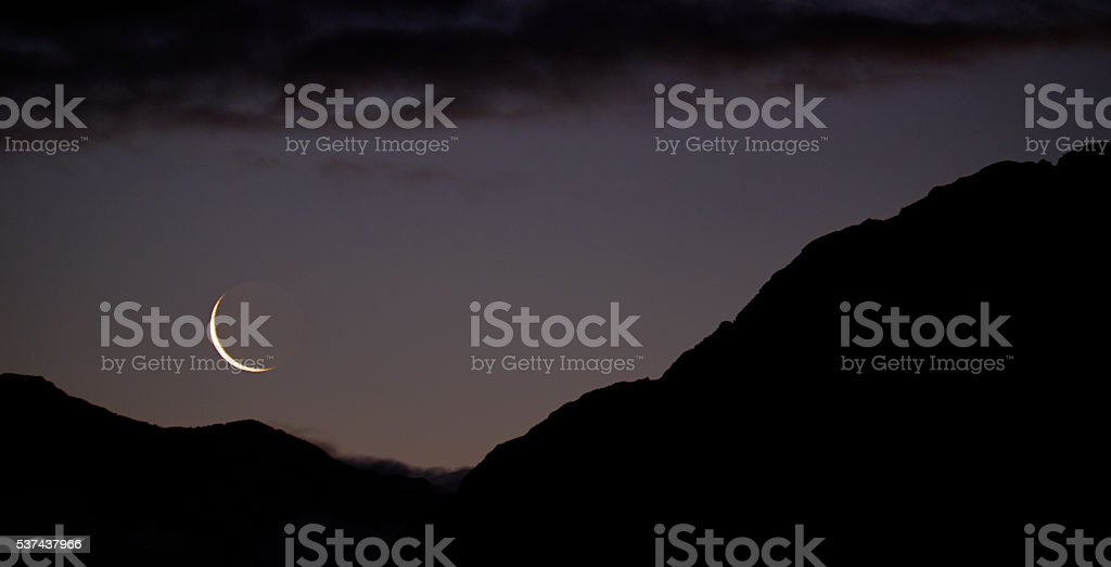 The sun has set on the Southern Alps in the Arthur\'s Pass National...