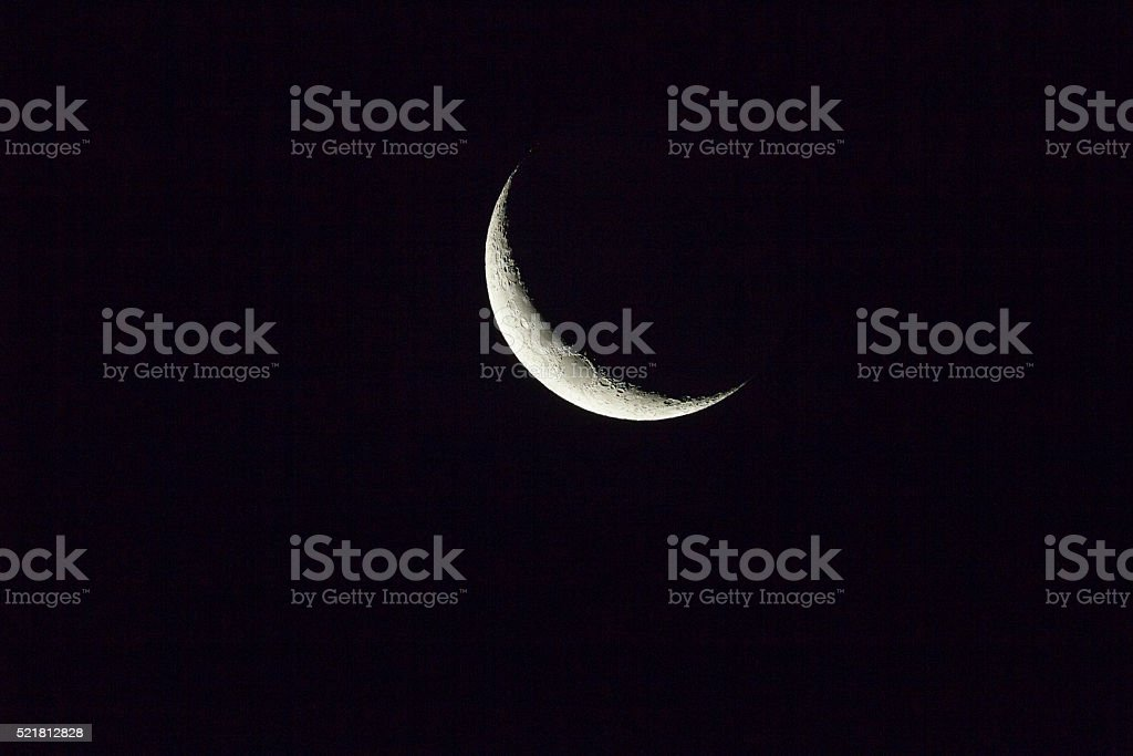 New Moon stock photo