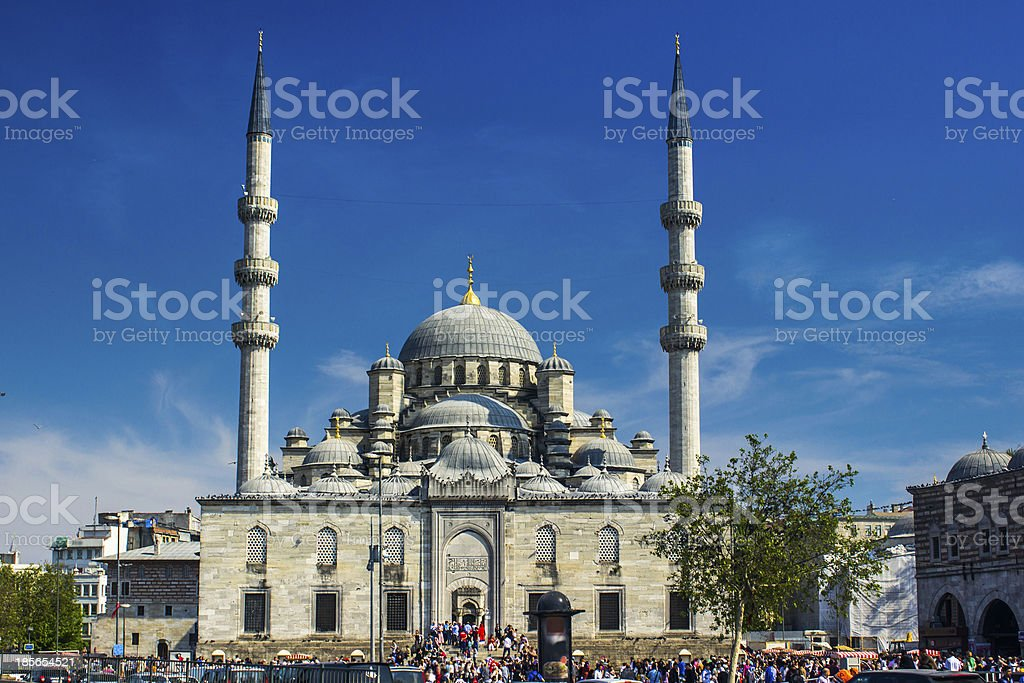 New (Yeni) Mosque against the Blue royalty-free stock photo