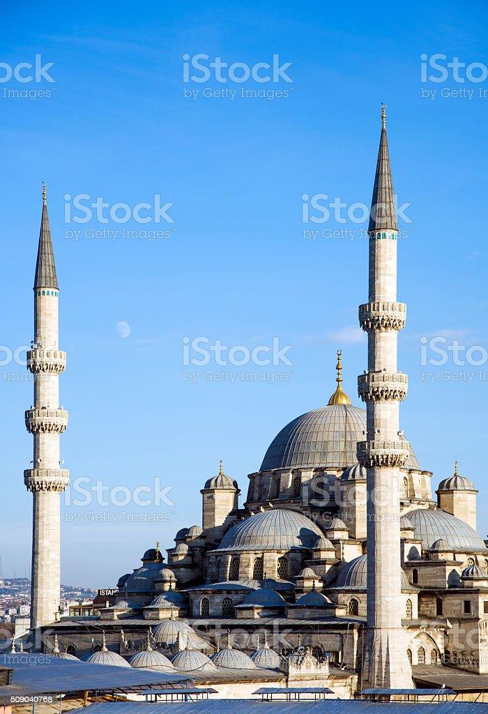 New Mosque (Yeni Cami), Eminonu district, Istanbul, Turkey stock photo