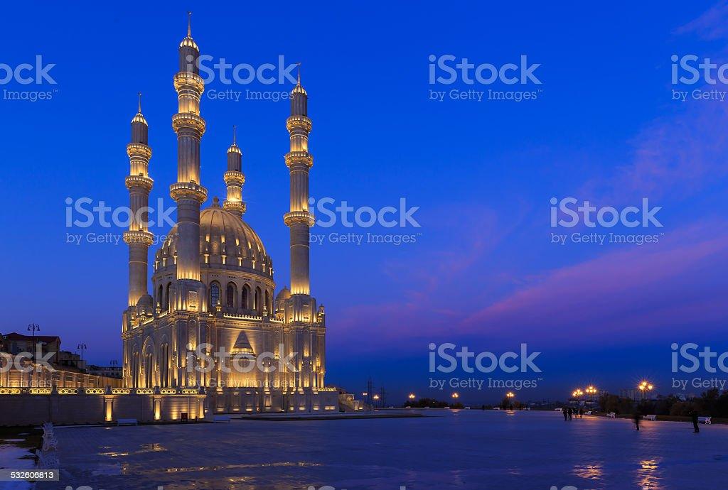 New mosque in Baku stock photo