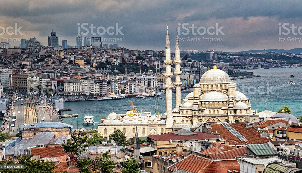 New Mosque in Instanbul stock photo