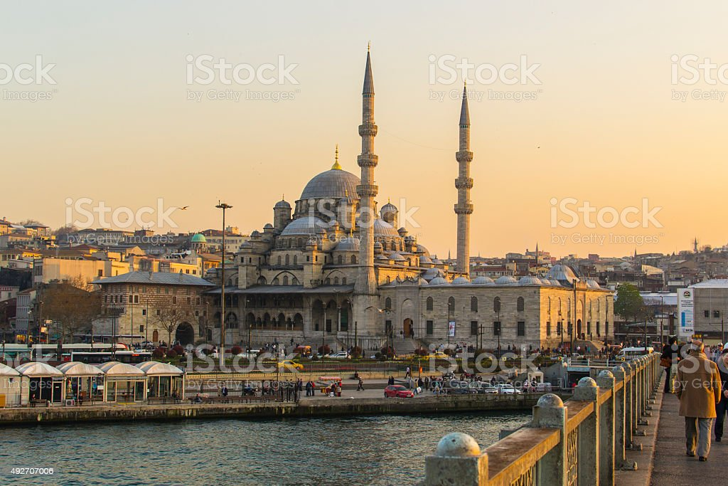 New Mosque in Istanbul (Turkey) stock photo