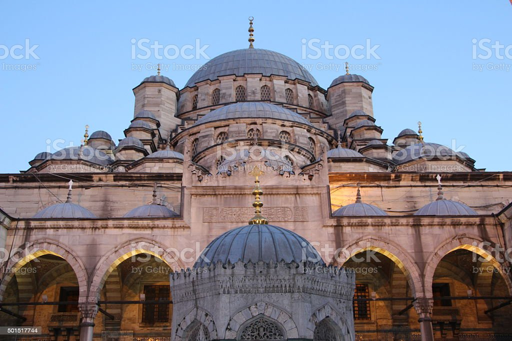 New Mosque in Istanbul Turkey. stock photo