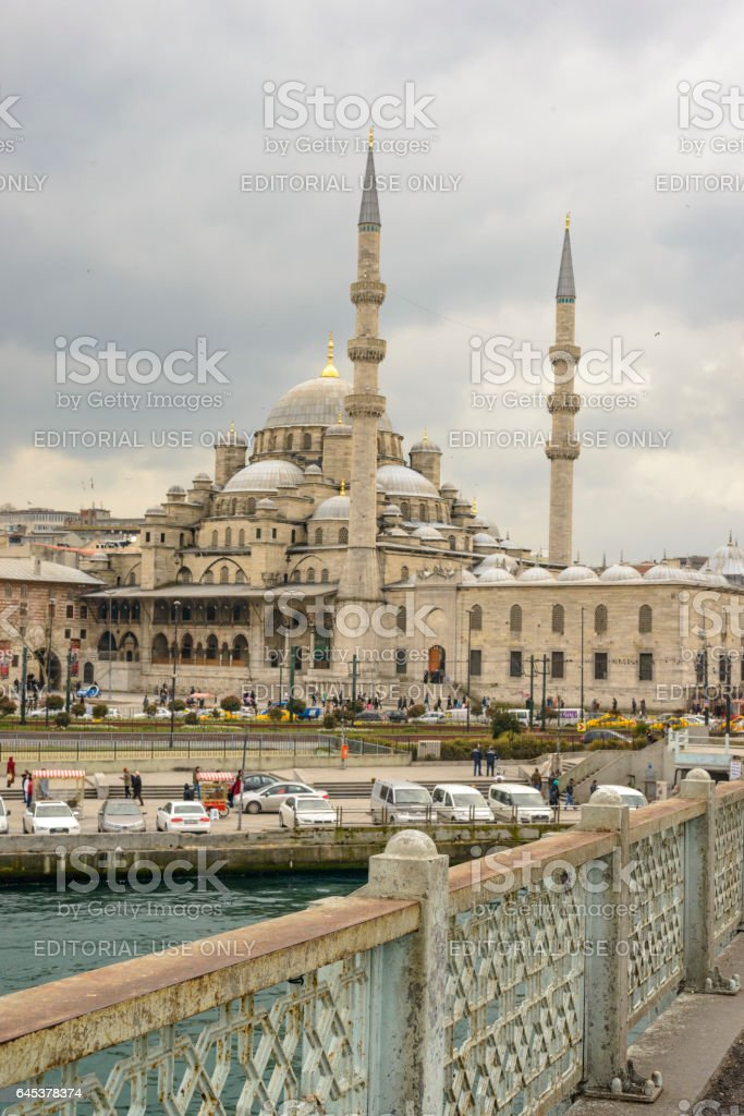 New Mosque or Yeni Cami in Istanbul Turkey stock photo