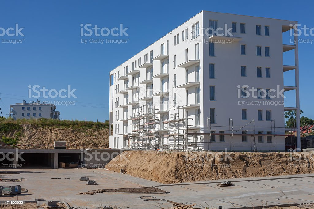 New multi-Storey Building Under Construction royalty-free stock photo