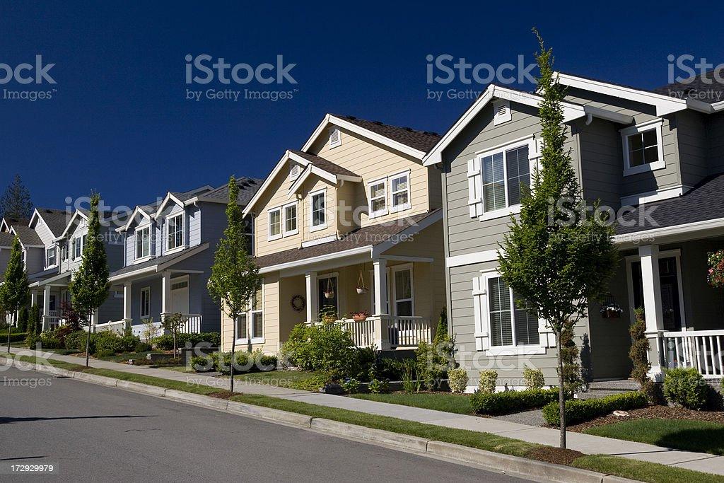 New neighborhood royalty-free stock photo