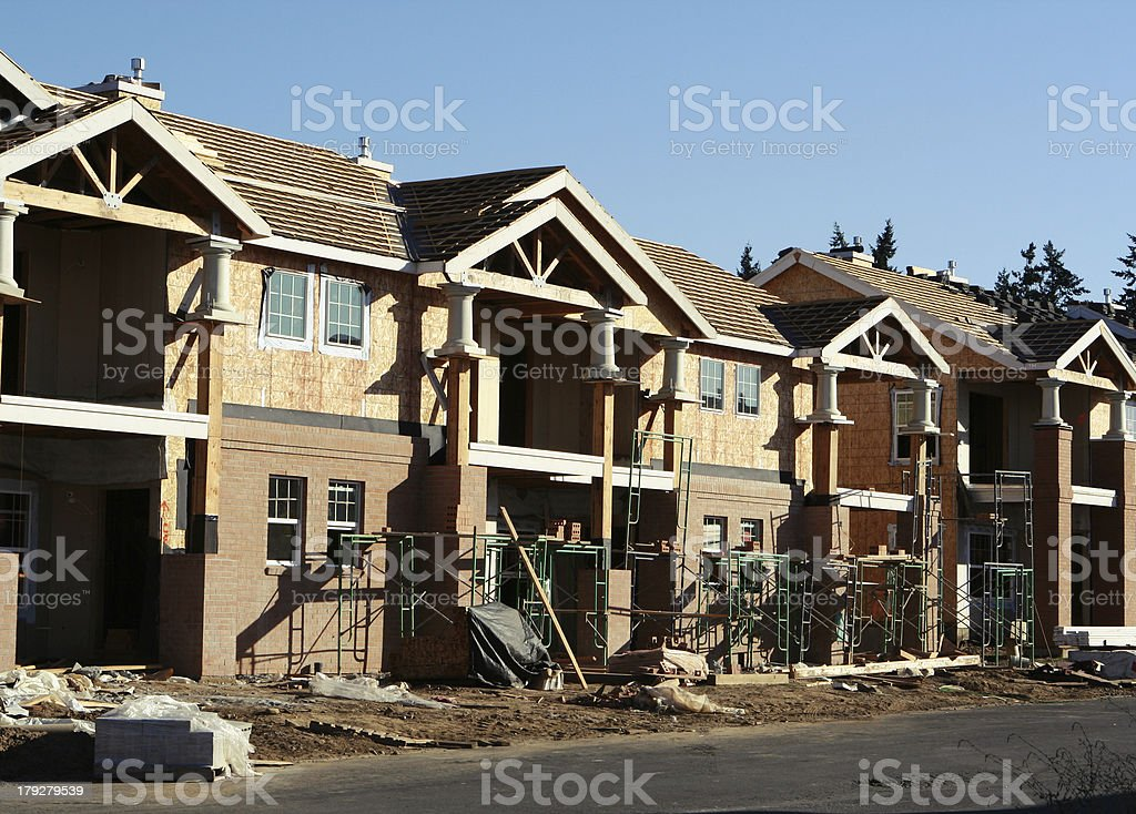 New Neighborhood Under Construction stock photo