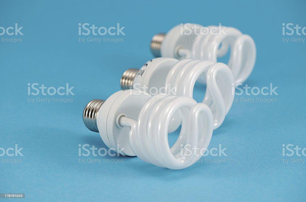 new novel modern economic fluorescent light bulb stock photo