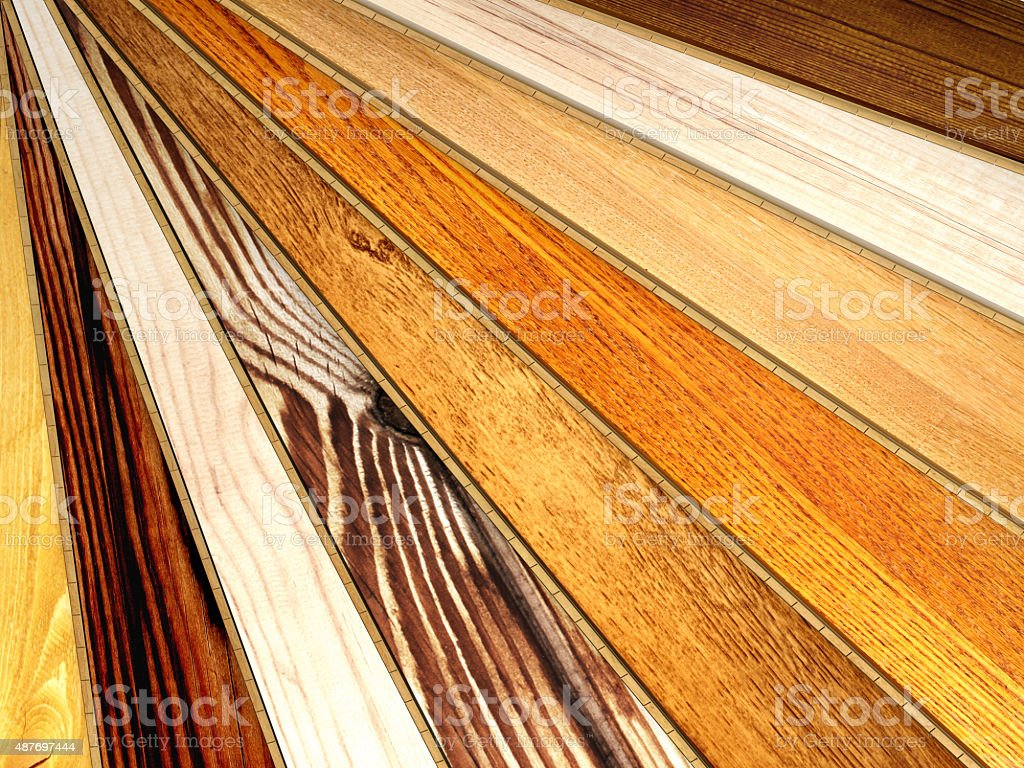 New oak parquet of different colors stock photo
