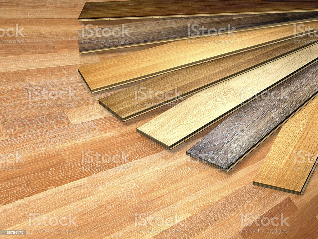New oak parquet stock photo