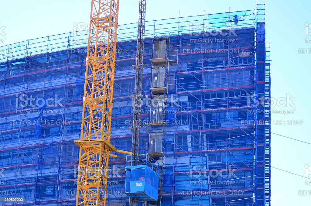 New office building site stock photo