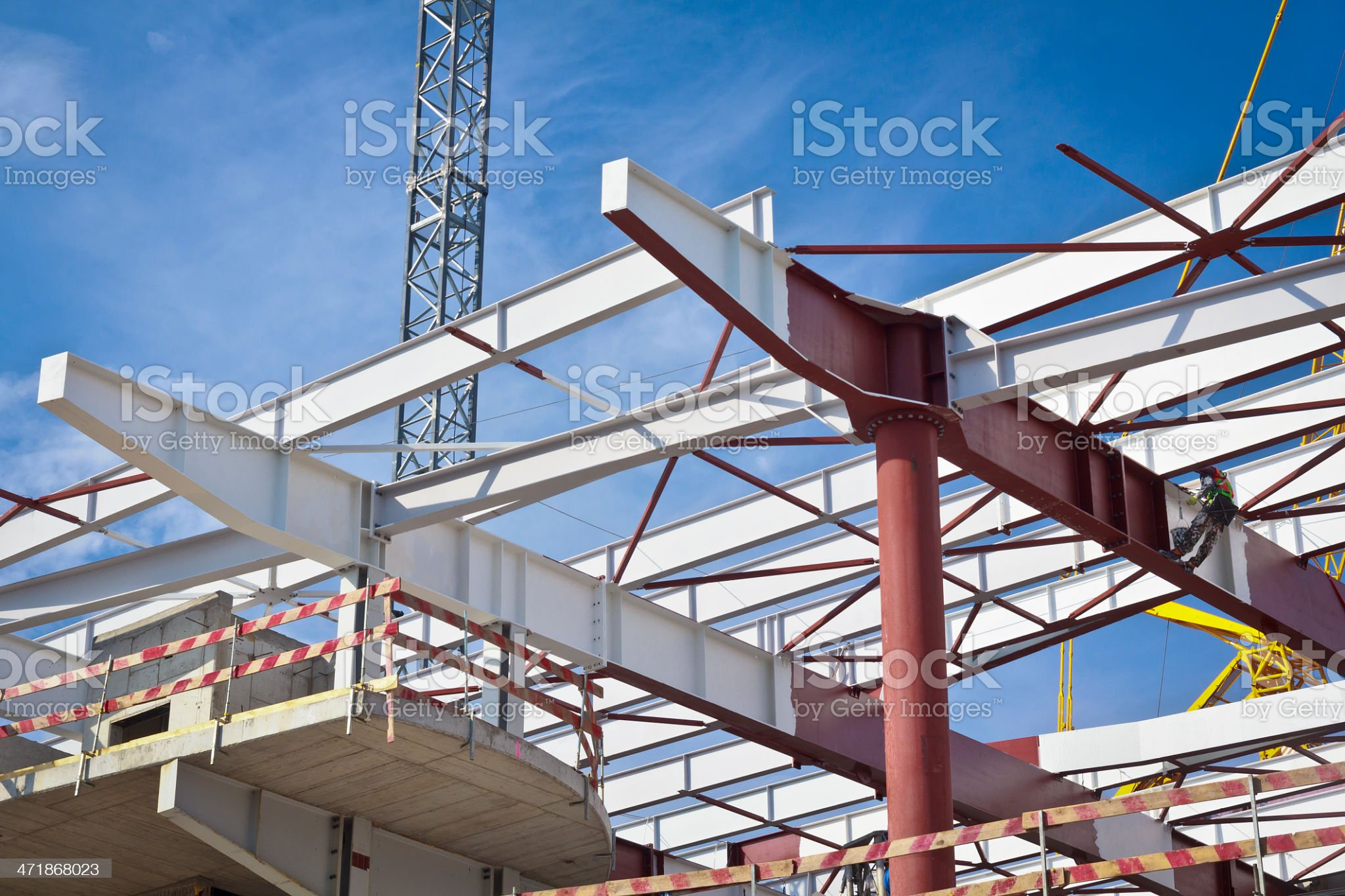 New office building under construction royalty-free stock photo