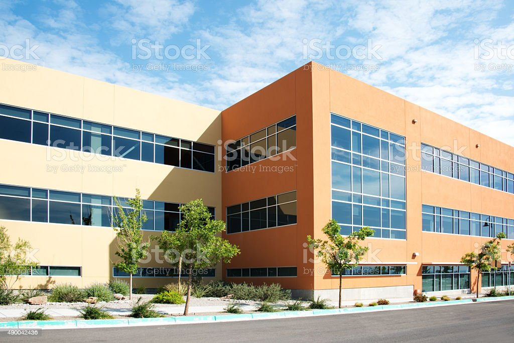 New Office Patk Building Exterior stock photo